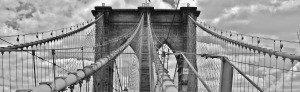 גשר ברוקלין ניו יורק בשחור לבן