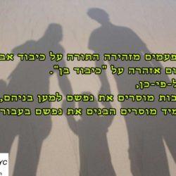 שלוש פעמים מזהירה התורה על כיבוד אב