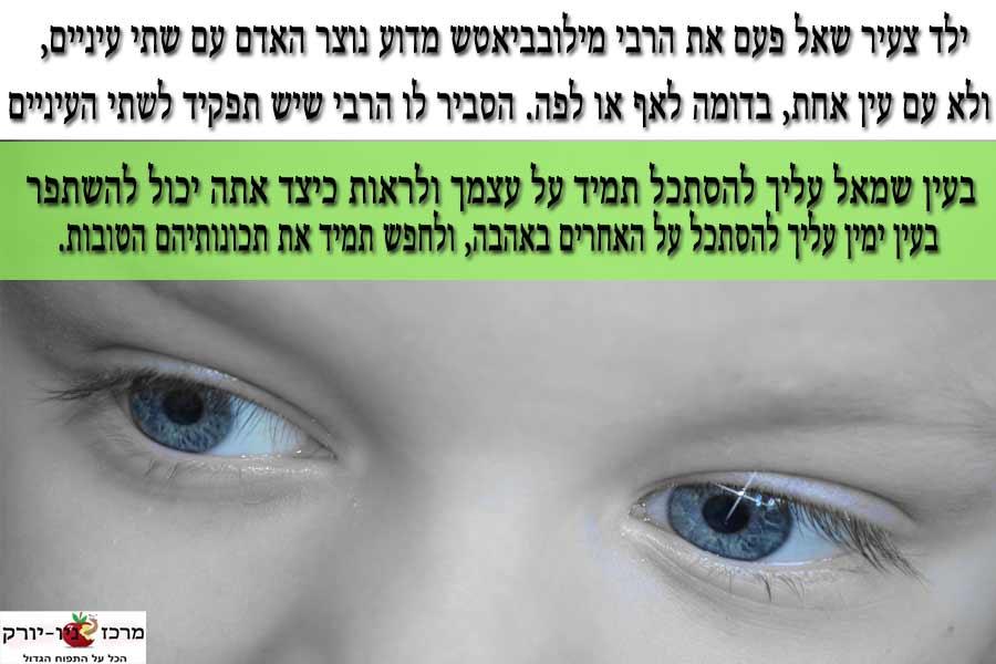 מדוע נוצר האדם עם שתי עיניים?
