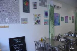 יצרות האומנות במסעדה בברוקלין