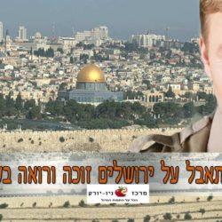 כל המתאבל על ירושלים זוכה ורואה בשמחתה | בין המיצרים