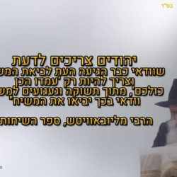 הרבי מליובאוויטש, ספר השיחות  – עמדו הכן כולם