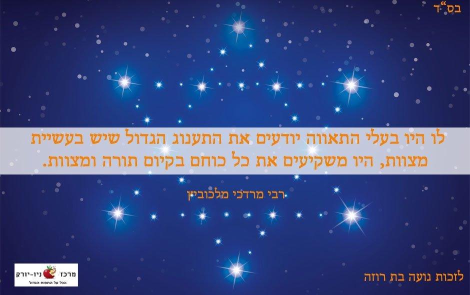 במה שווה ולא שווה להשקיע את כל הכח – על תאווה ומצוות – רבי מרדכי מלכוביץ