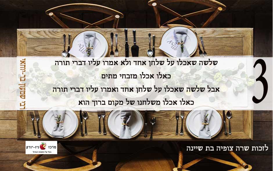 פתגם של רבי שמעון בר יוחאי – על אכילה ודברי תורה