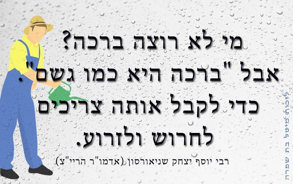 ברכה היא כמו גשם