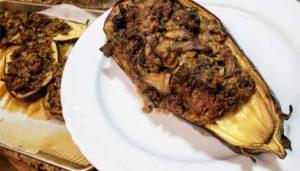 סירות חציל ממולא בבשר טחון פטריות ועוד - לדיאטת דלת פחמימות, קיטו, פליאו