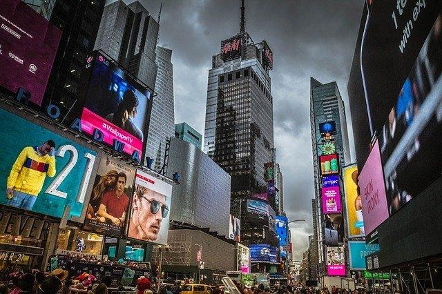 הטיים סקוור במנהטן ניו יורק בחורף