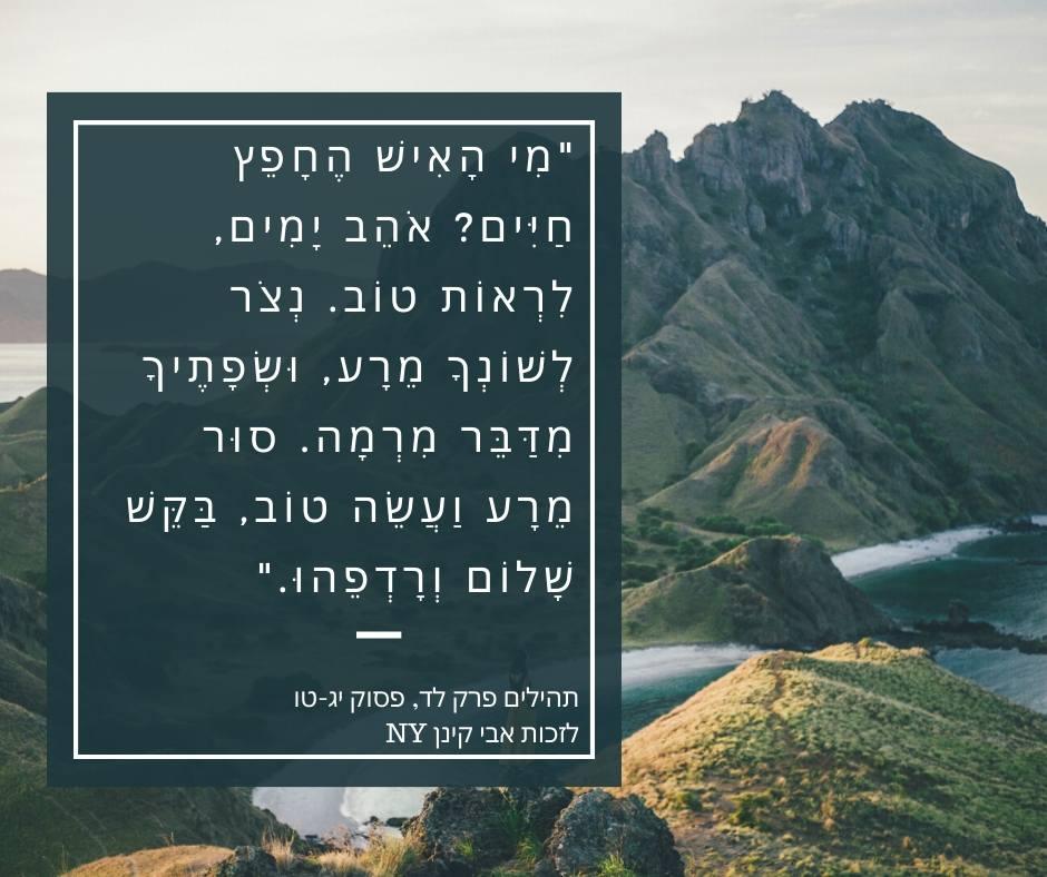 פסוק יפה מתהילים